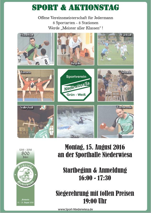 Vereinsmeisterschaft - Sport- und Aktionstag Flyer