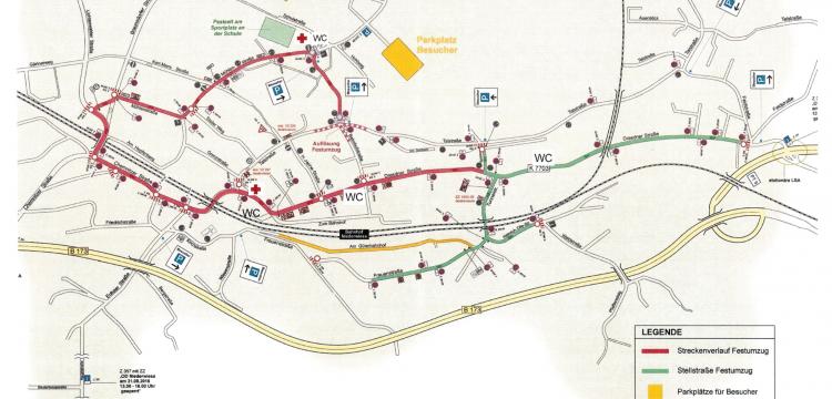 Streckenplan Festumzug