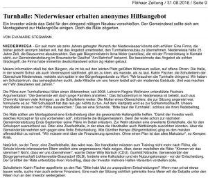 Freie Presse Flöha vom 31.08.2016